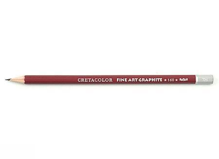 مداد طراحي بدنه قرمز CRETACOLOR 7H