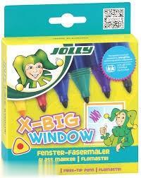 ماژيك 6 رنگ JOLLY 4490-0019 X-BIG WINDOW