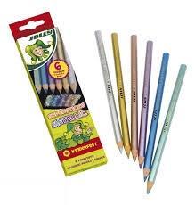 مدادرنگي 6 رنگ مقوايي JOLLY 3000-0450 METALLIC