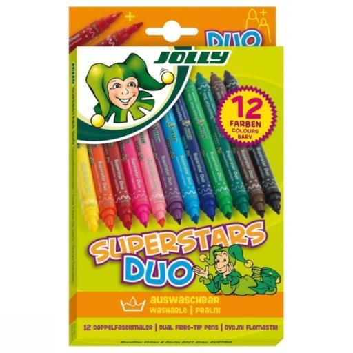 ماژيك 12 رنگ JOLLY 4425-0001 SUPERSTARS DUO
