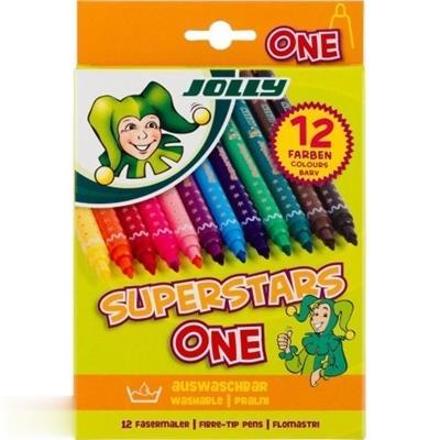 ماژيك 12 رنگ JOLLY 4445-0029 SUPERSTARS ONE