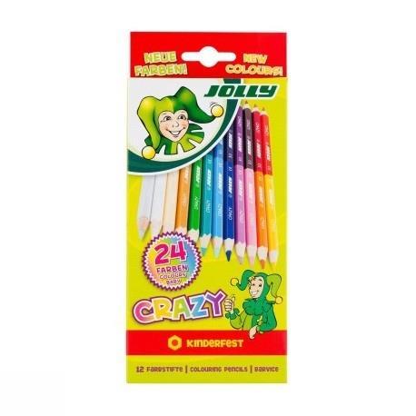 مدادرنگي 24 رنگ مقوايي JOLLY 3000-0503 CRAZY
