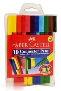 ماژيك 10 رنگ درچسبان FABER CASTELL 111150