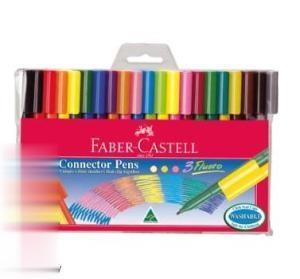 ماژيك 20 رنگ درچسبان FABER CASTELL 111200