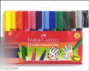 ماژیک 12 رنگ درچسبان FABER CASTELL 000012 Jumbo