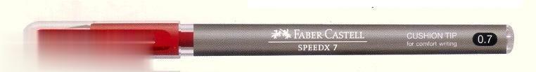 خودكار قرمز دربدار FABER CASTELL 5462 Speedx 7 0.7mm