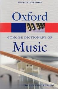 oxford concise dic of music org