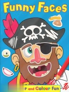 Funny Faces Sticker and Colour Fun 4476
