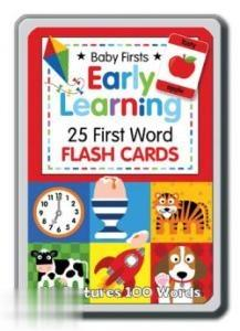 Early Learning 25 First Word Flash Cards