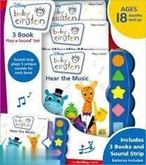 Baby Einstein 3 Book Play a Sound set
