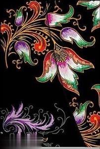 Floral Cascade Ebony Midi Wrap