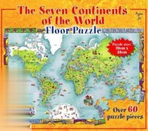 The Seven Continents of the World Floor Puzzle