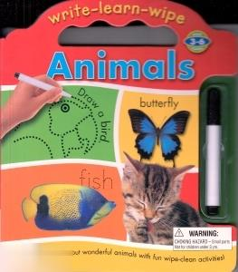 Write Learn Wipe Animals