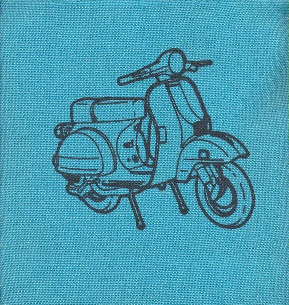 كيف پارچه اي كوچك (كد 117)،(طرح موتورسيكلت)
