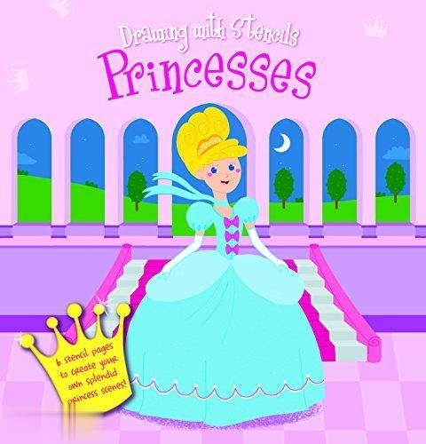 Princesses Drawing With Stencils