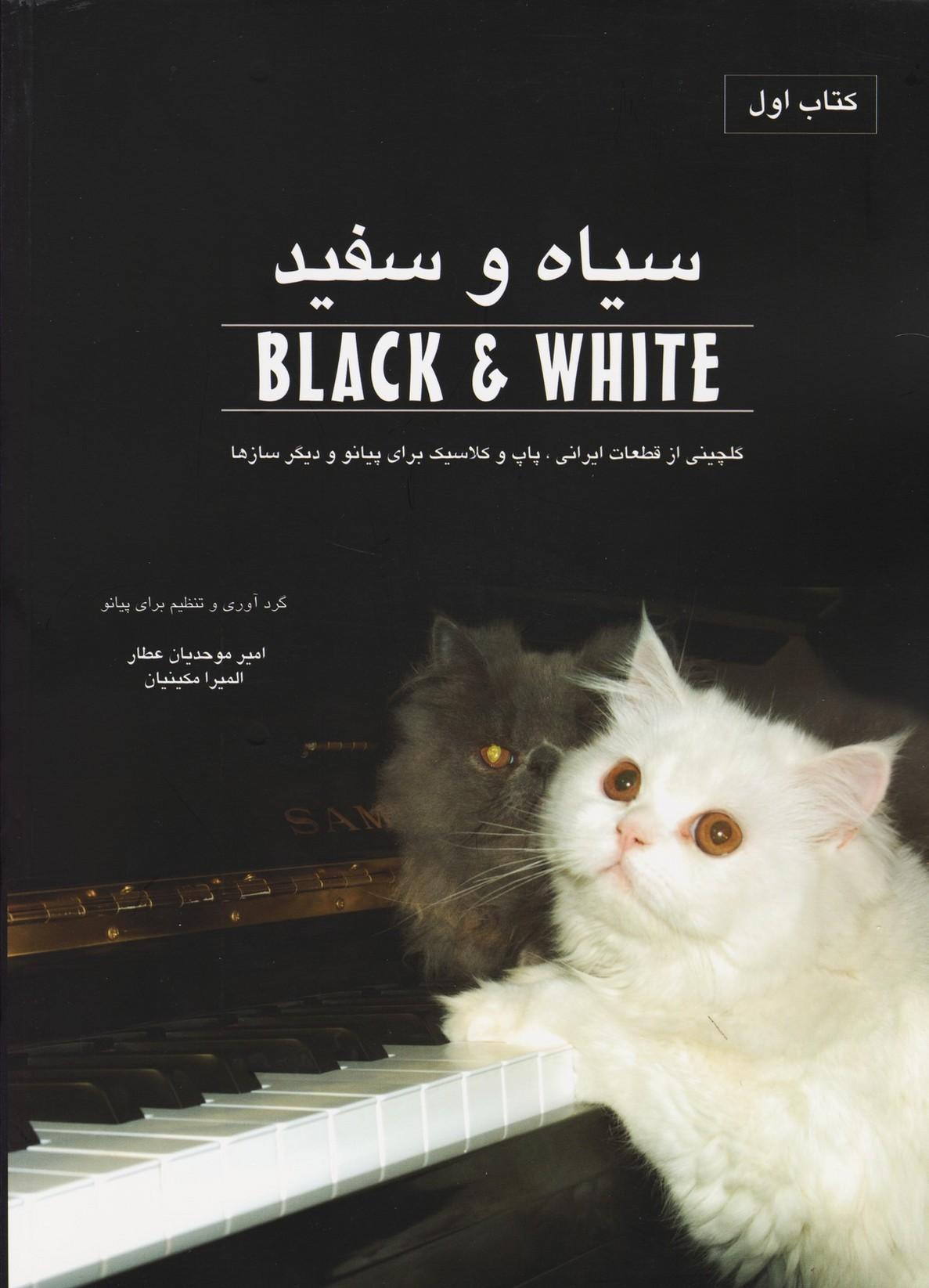 سیاه و سفید: جلد اول/گلچینی از قطعات ایرانی.پاپ و کلاسیک برای پیانو و دیگر سازها